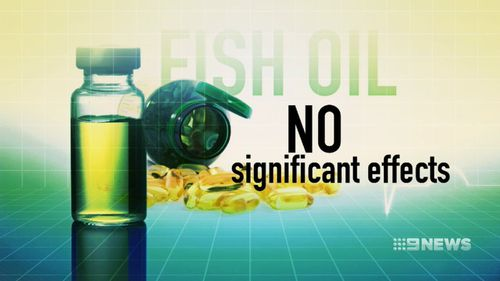 The review found omega-3 fatty acid supplements provide no significant effects in trying to prevent heart attack and stroke. Picture: 9NEWS.