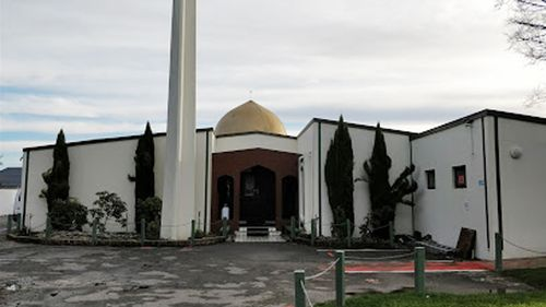 Entrance of the Al Noor Mosque in Christchurch.