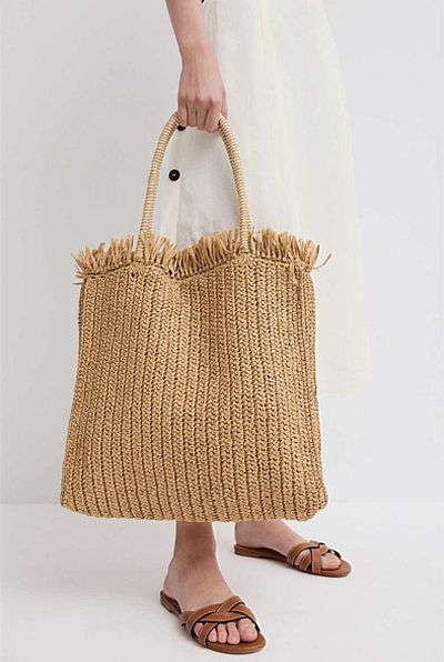 Witchery Althea crochet tote, $99.95