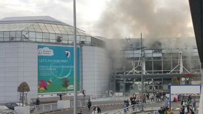 A string of explosions rocked Brussels airport and a city metro station, killing at least 21 people in what appear to be coordinated attacks. (Twitter/@airlivenet)