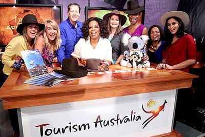 """<I>We're going to Australia</I>!"" Oprah bellowed at her (hysterical, screaming) audience in September, announcing she'd be bringing scores of (hysterical, screaming) Americans down our way <a href=""http://news.ninemsn.com.au/world/7960861/oprah-headed-to-australia-to-shoot-show"" target=""new""><U>to film a series of shows at the Sydney Oprah... er, <I>Opera</I> House</U></a>. Cue Australian media frenzy, which was only outdone by the frantic rush for tickets."