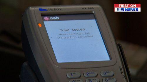 The interruptions have been knocking Eftpos machines offline. (9NEWS)