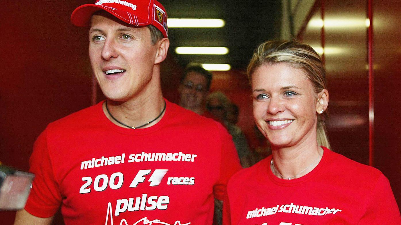 Michael Schumacher with wife Corinna in 2004.