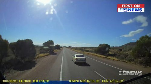 The near-miss unfolded on Friday in Port Augusta. (9NEWS)