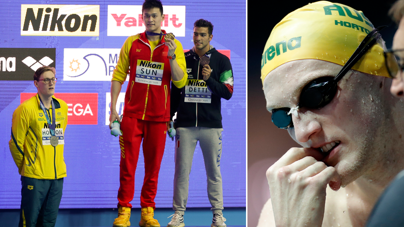 Mack Horton set to cop official warning from FINA over Sun Yang protest