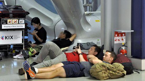 Passengers were left stranded after flights were cancelled.