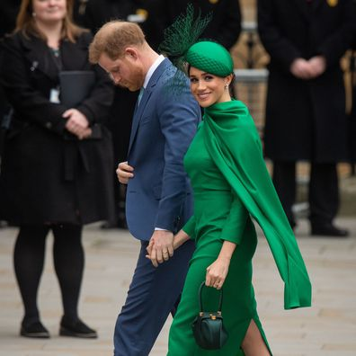 The Duke and Duchess of Sussex arrive at the Commonwealth Service at Westminster Abbey, London on Commonwealth Day.