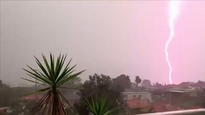 NSW lights up with 300,000 lightning strikes in severe storm