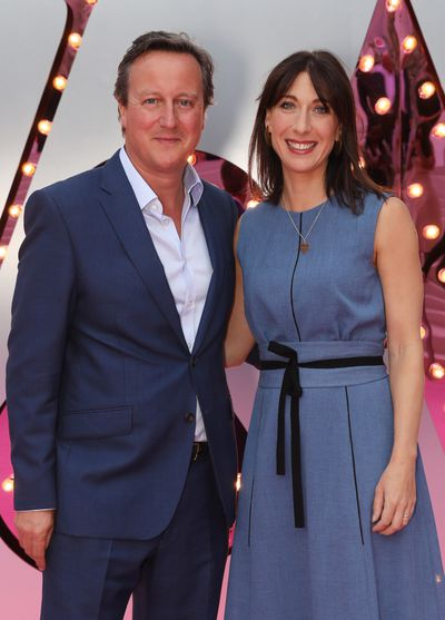 Former prime minister of Britain David Cameron and his wife Samantha Cameron