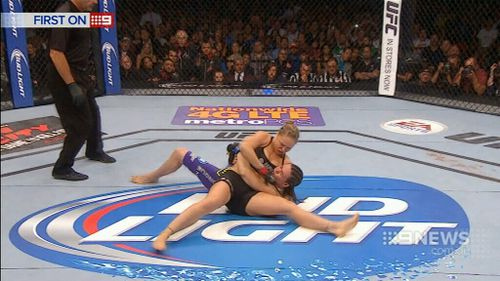 Rousey will soon face boxer turned UFC fighter Holly Holm. (9NEWS)