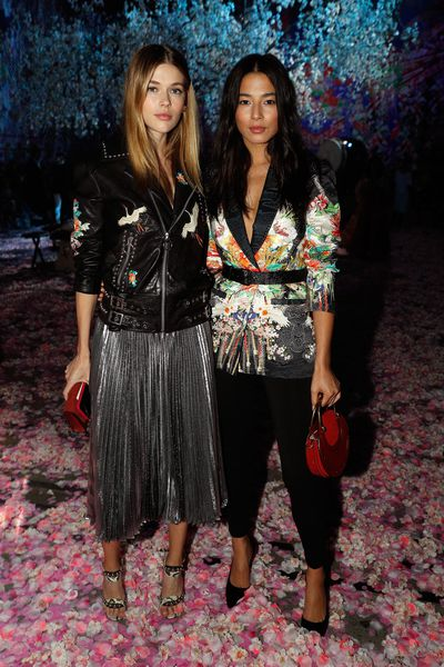 Models Victoria Lee and Jessica Gomes in Camilla