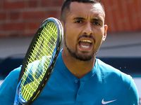 Kyrgios f-bombs cause controversy at Queen's