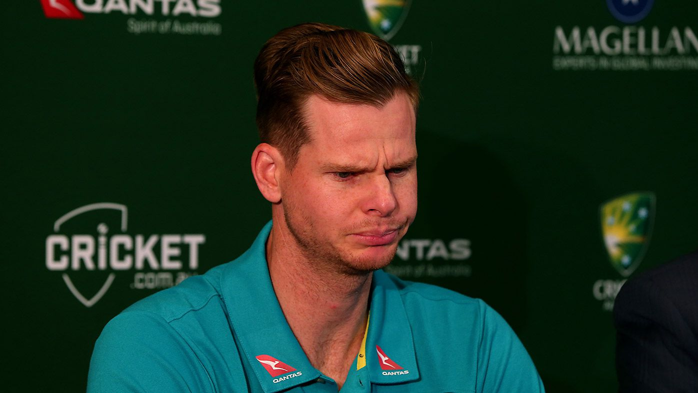 Australian Test captain Steve Smith speaks to the media