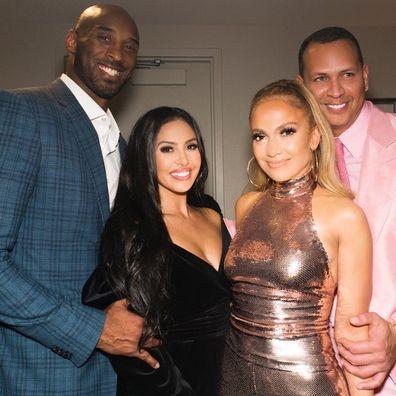 Jennifer Lopez, Kobe Bryant, Vanessa Bryant, Kobe Bryant, concert, backstage, photo
