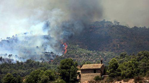 Spain bushfire Europe heatwave