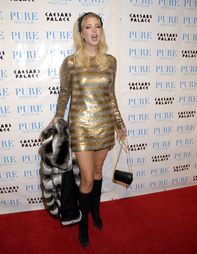 Ivanka Trump during Ivanka Trump 25th Birthday Celebration at Pure Nightclub in Las Vegas