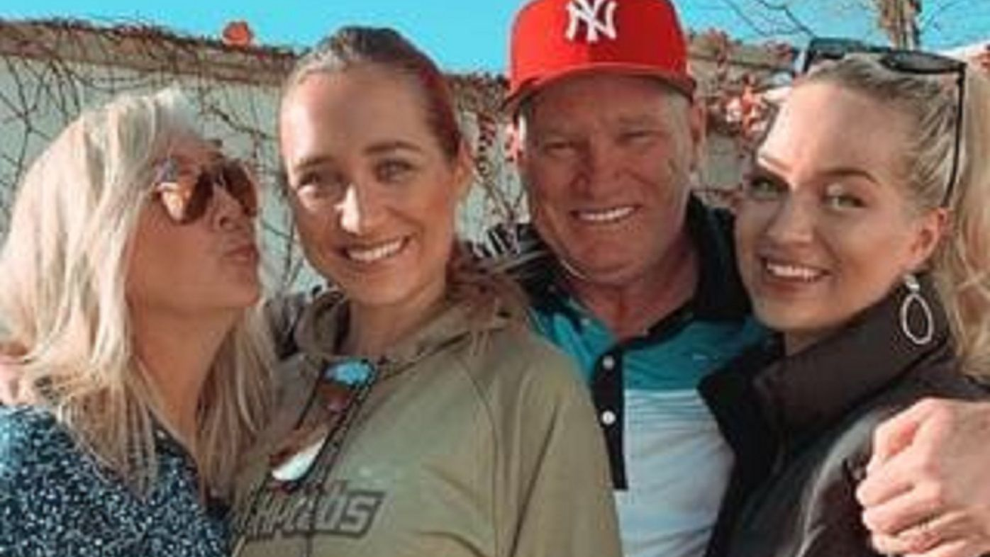 Dean Jones with his family.