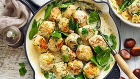 Chestnut and chicken meatball