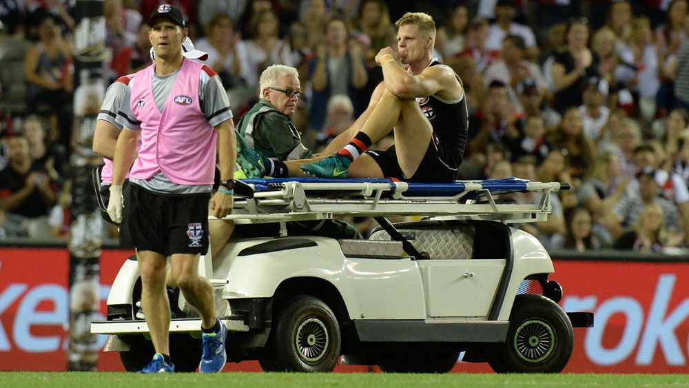 St Kilda star Nick Riewoldt feared the worst when he left the field. (AAP)