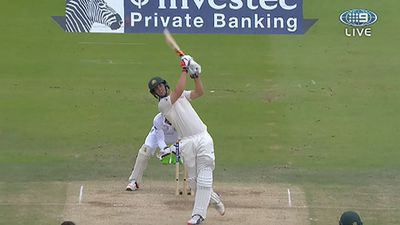 Mitchell Marsh hits a six