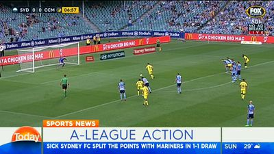 A-League: Central Coast Mariners hold flat Sydney FC to draw