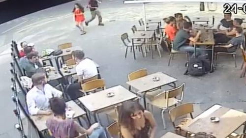 A man has been arrested after he allegedly slapped the student outside a cafe in Paris.