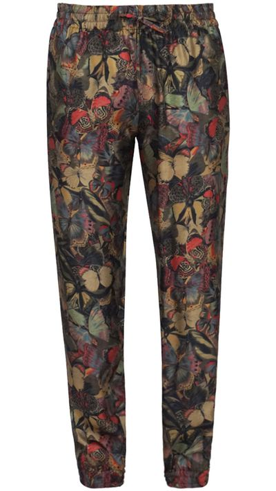 """<p><a href=""""http://www.parlourx.com/valentino-butterfly-printed-silk-pant.html"""" target=""""_blank"""">Butterfly Silk Pant, $995, Valentino from Parlour X</a></p>"""