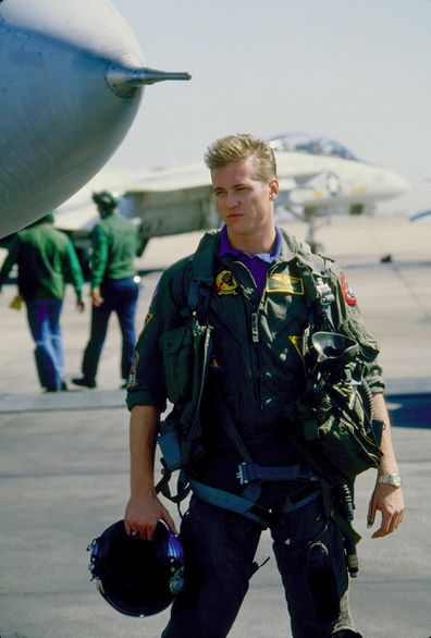 Val Kilmer, Top Gun, movie, set
