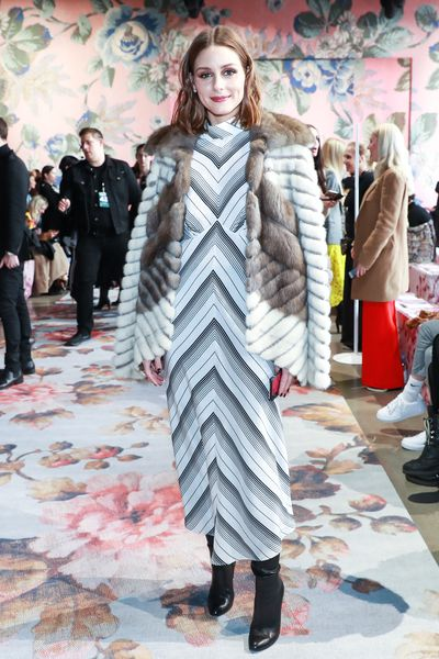 Olivia Palermo at Zimmermann's A/W '18 show in New York City