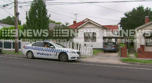 Police have blocked off the home as they investigate. (9NEWS)