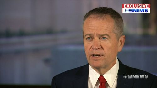 Bill Shorten spoke exclusively to Chris O'Keefe after announcing the $6b rail pledge. Picture: 9NEWS