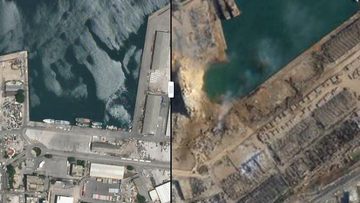 Beirut explosion before and after images