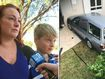 'Not a mark on him': Boy's lucky escape after kicking car into gear