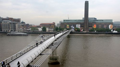 A teenager has been arrested after a boy was thrown from the 10th floor of Tate Modern gallery.