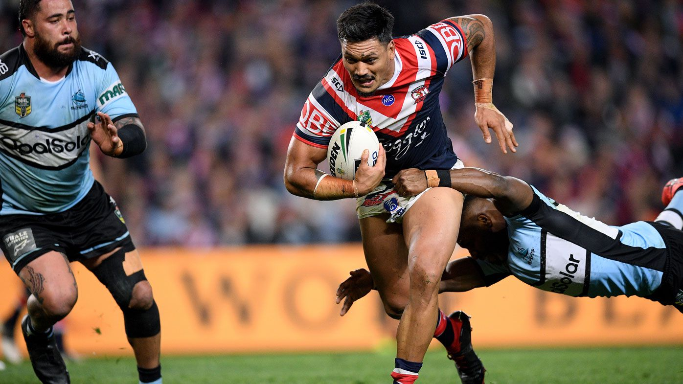 NRL: Sydney Roosters fend off Cronulla Sharks in scintillating qualifying final