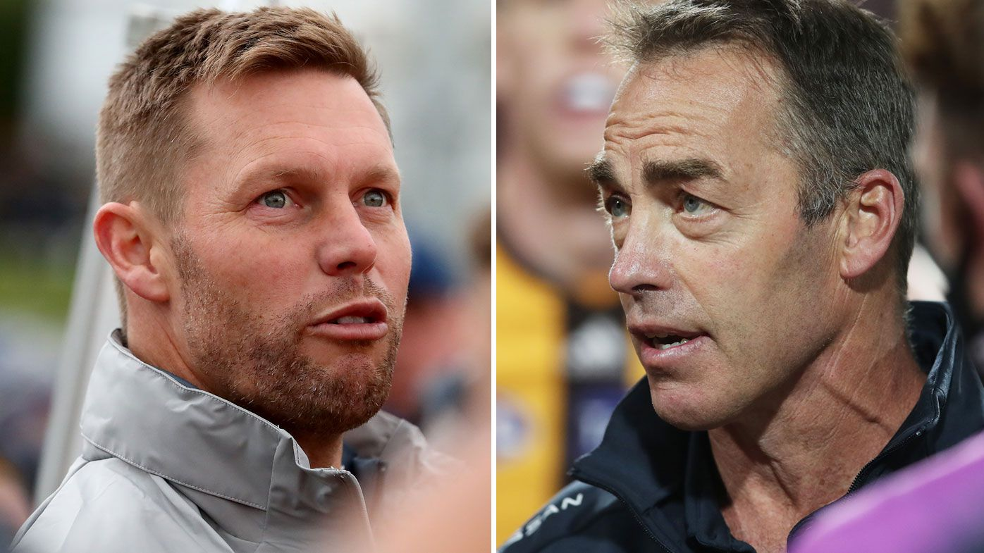 Sam Mitchell shoots down claims of rift with Alastair Clarkson following reports of ugly meeting