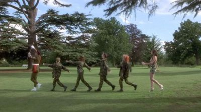 The Spice Girls make a strong case for head-to-toe army prints.