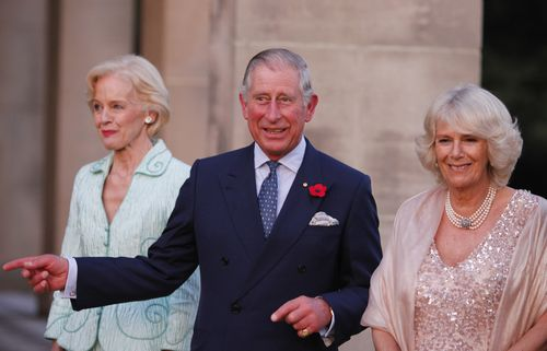 Prince Charles and the Duchess of Cornwall with then Governor-General Quentin Bryce in 2012 (AAP)