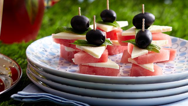 Olive, feta and watermelon