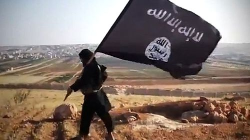 Islamic State flag bearer