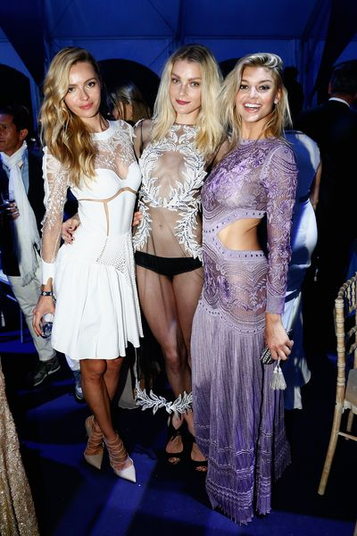<p>If you thought (or hoped) the sheer trend was beginning to fade, think again. As the supermodels who attended Leonardo DiCaprio's charity dinner and auctionovernight in St Tropez proved, less continues to be more. Click through to see all the sheer delights.</p>