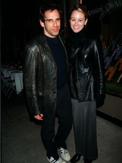 25Oct99 New York City Ben Stiller Leaving Nello's Restaurant After Dinner With Girlfriend Christine Taylor
