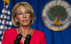 Question over viral claim about Trump education boss's stance on school death rates
