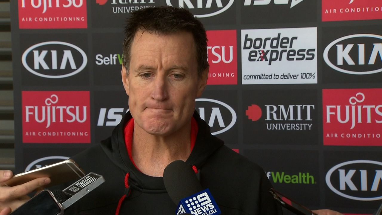 Essendon coach John Worsfold gets prickly with reporter over Neeld sacking