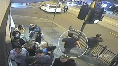 This man is a person of interest in the Chapel Street bashing overnight. (9NEWS)