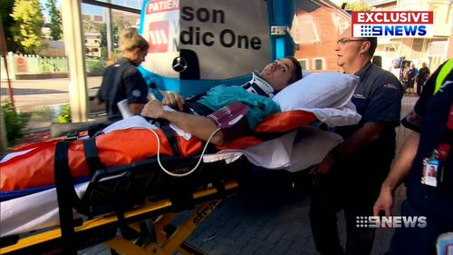 Tai Martin-Page is back home to begin his rehab. (9NEWS)
