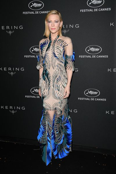 Cate Blanchett wearing Iris Van Herpen at the Women in Motion Awards Dinner in Cannes, France, May, 2018