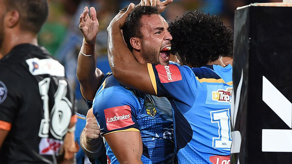 James inspires Titans' upset NRL win