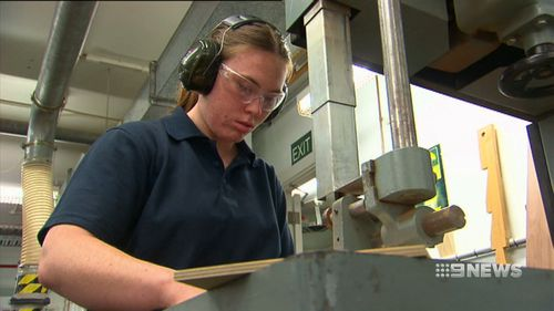 Eight apprentices are learning a trade as part of a new program at parliament house.