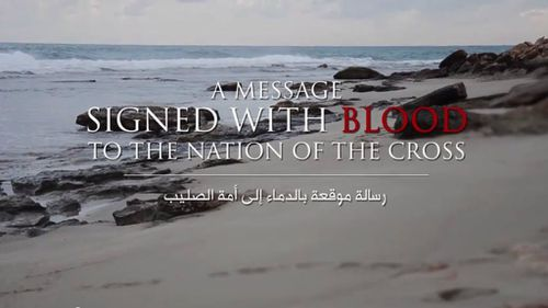 The video was distributed by Al-Hayat Media, ISIL's media arm. (Supplied)